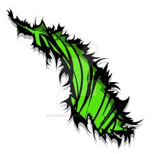 tiger stripe rip tear green design by sookiesooker on deviantart