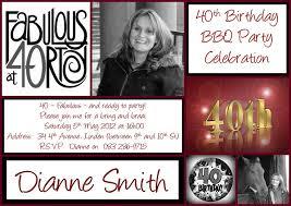 40th birthday invitations printable free invitations ideas