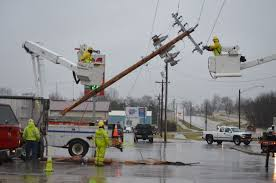 utility pole light fixtures downed le center power pole won t return after being hit by truck