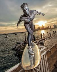surfer halloween costume trending viralvideo halloween silver surfer prank 2016 by jesse
