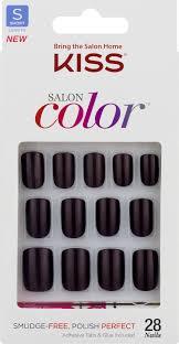 kiss salon color nails short length 28 ct walmart com