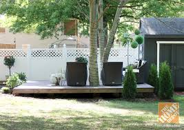 Deck Ideas For Backyard Tips And Ideas On How To Build A Floating Deck The Home Depot