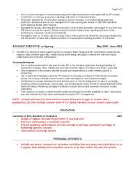 exle of resume for a 2 sle agency resume