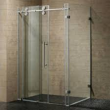 clear chrome 36in x 60in frameless shower enclosure with 3 8inch