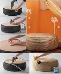 creative ideas home decor 25 creative ideas to reuse old tires tire ottoman extra seating