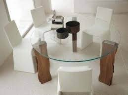 Dining Room Glass Tables Glass Dining Table With Wood Base Foter