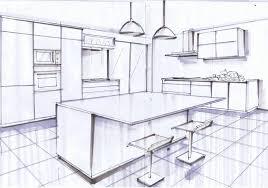 plan de cuisine moderne avec ilot central ilot central noir et blanc le de elise fossoux