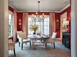 Red Dining Table by Dining Room Paint Colors Ideas Cabinet Plants In Pot Hanging Lamp