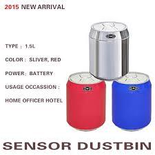 cachee bureau 1 5l sliver bleu capteur poubelle automatique container