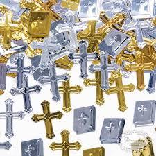 bibelsprüche konfirmation guld sølv konfetti bibler kors pynt til konfirmation barnedåb