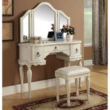 Antique Vanity Table With Mirror And Bench Tips Modern Mirrored Makeup Vanity For The Beauty Room Ideas