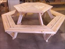 Build A Heavy Duty Picnic Table by Exteriors Octagon Bbq Table How To Build A Round Picnic Table