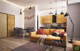 Home Design Interior 2016 by 3 Open Layout Interiors With Yellow As The Highlight Color