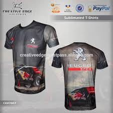 peugeot dakar peugeot sports dakar full sublimation t shirt wholesale