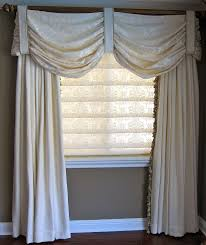 Sheer Swag Curtains Valances Gentle Swag Valance Over Tassel Trimmed Drapery With Complimenting