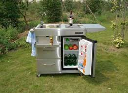outdoor kitchen carts and islands outdoor kitchen cart with mini refrigerator and also faucet and