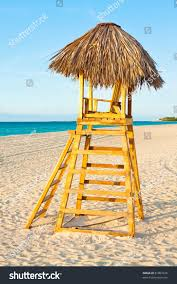 Chairs On A Beach Lifesaver Observation Chair On Beautiful Tropical Stock Photo