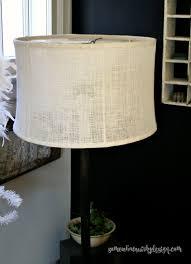 Vintage Table Lamp Shades Somewhat Quirky Vintage Lampshades Covered With Burlap