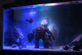 made a bioshock fish tank gaming