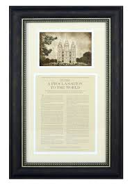 framed family proclamation the family proclamation framed with temple picture in temple