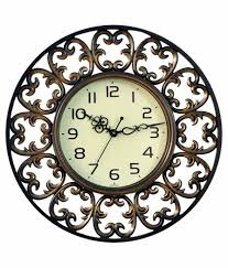 sns creations brown wall clock buy sns creations brown wall clock