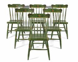 jeff bridgman antique flags and painted furniture set of 6