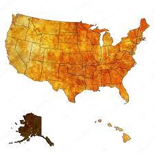alaska on map alaska on map of usa stock photo michal812 30953651