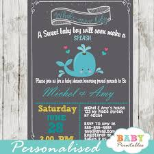 whale baby shower invitations blue gray whale baby shower invitation boys d185 baby printables