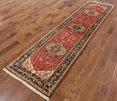 Red Runner Rug Elegant Red Black Border Serapi 3 U0027x10 U0027 Hand Knotted Runner Heriz