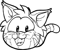 club penguin cat face coloring page wecoloringpage