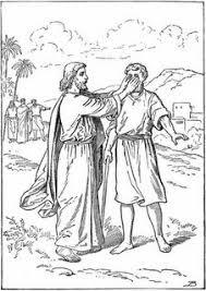 Jesus Heals The Blind Man Preschool Craft Jesus Heals A Blind Man Luke 18 35 43 Free Visuals Bible Jesus