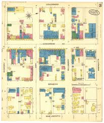 Maps Austin 1885 Sanborn Fire Maps Of Austin Texas Cool Old Photos