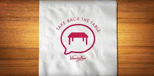 Vanity Fair Dinner Napkins Vanity Fair Napkins Urges Families To Takebackthetable With