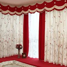 Country Style Window Curtains Beige And Linen Cotton Blend Country Style Bay Window Curtains