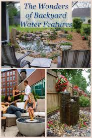 fantastic backyard water features pictures on charming backyard