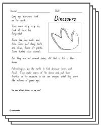 dinosaurs response activity sheets english skills online