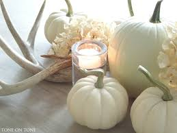 white pumpkins tone on tone fall accents