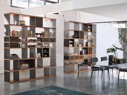 Free Standing Bookcases Freestanding Double Sided Steel And Wood Bookcase Diesys By Alivar