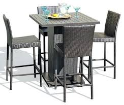 Patio High Table And Chairs Bar Stool Outdoor Bar Height Dining Table And Chairs Outdoor