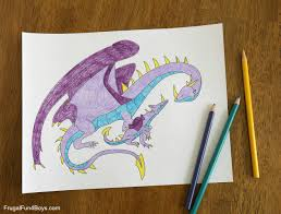 awesome dragon coloring pages to print