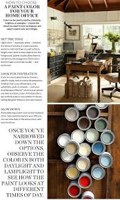 choose a paint color for your home office pottery barn paint