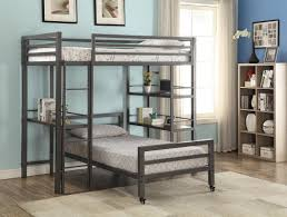 harriet bee haylie twin loft bed with bookshelves and writing desk
