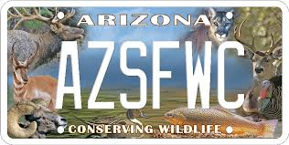 Arizona wildlife images Az conservation license plate png