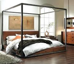 Modern Canopy Bed Frame Modern Canopy Bed Frame Vectorhealth Me