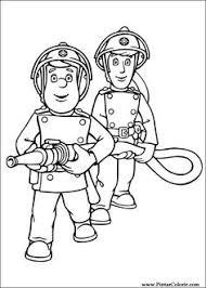 fireman sam coloring picture party 2ans simon