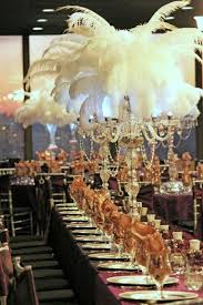 great gatsby centerpieces great gatsby table decorations wedding tips and inspiration