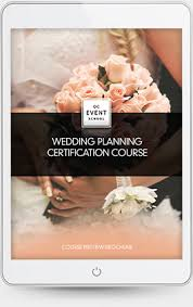 wedding planner certification course wedding planning course qc event school