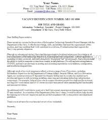 awesome collection of sample cover letter federal government job