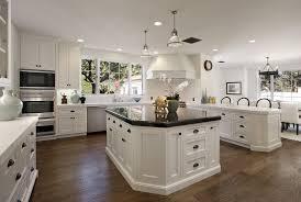kitchen designs white kitchen cabinets with dark hardwood floors