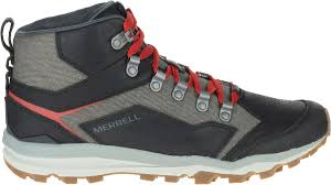 merrell all out crusher mid mens hiking walking shoes leather